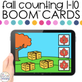 Fall Counting 1-10 Boom™ Cards - Distance Learning for Spe