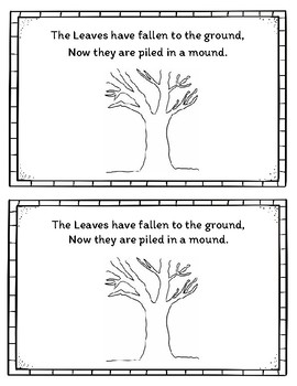 Fall Counting 1-10 Leaves Book