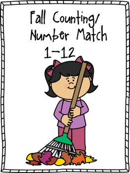 Fall Counting/Number Match 1-12