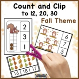 Fall Counting Activities | Count and Clip