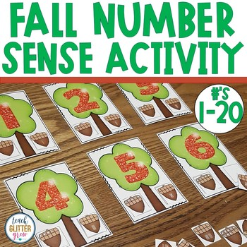 Fall Counting Activity | Number Sense Math Center