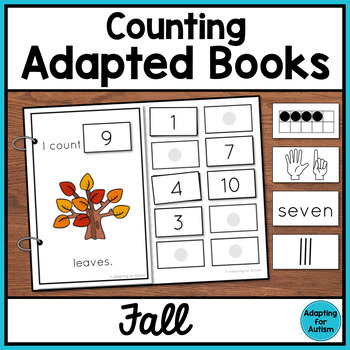 Fall Counting Adapted Books for Special Education and Autism