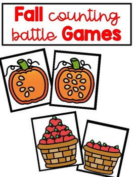 Fall Counting Battle Games {Comparing Numbers to 10}