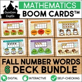 Fall Counting Boom Cards™ Bundle | Number Words 1-10