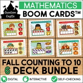 Fall Counting Boom Cards™ Bundle | Numbers 1-10