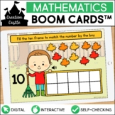 Fall Counting Boom Cards™ | Ten Frames 1-10