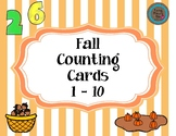 Fall Counting Cards 1 - 10