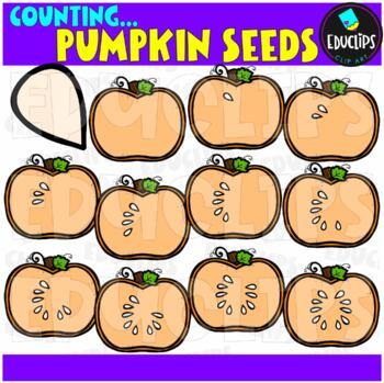 Fall Counting Clip Art Big Bundle {Educlips Clipart}