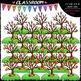 Fall Counting Clip Art & B&W Bundle 1 (4 Sets)