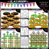 Fall Counting Clip Art & B&W Bundle 1 (4 Sets)