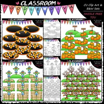 Fall Counting Clip Art Bundle 1 (4 Sets)