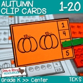 Fall Counting Clip Cards 1-20 | Kindergarten Math Centers