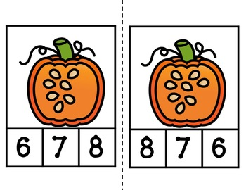 Fall Counting Clip Cards Bundle
