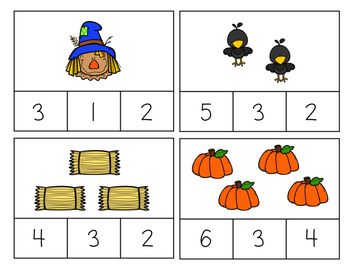 Fall Counting Clips 1-10