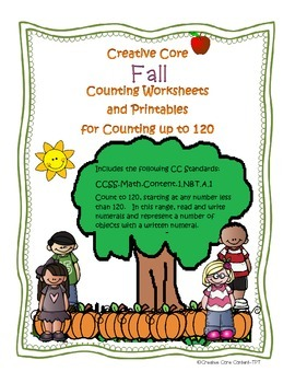 Fall Counting--Common Core Aligned Counting Worksheets
