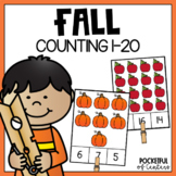 Fall Counting Clip Cards (1-20)