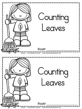 Fall Math - 'Counting Leaves' Emergent Reader