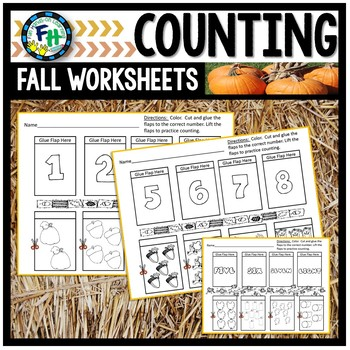 Fall Counting Lift-The-Flap Worksheets
