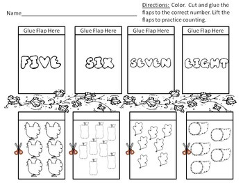 Fall Counting 1-10 Lift-The-Flap Worksheets