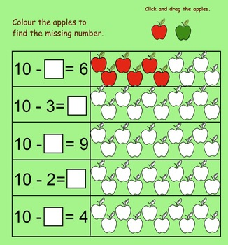 Fall Counting for Kinders - Gr. 1 Interactive Smartboard Lesson and Printables