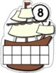 Thanksgiving Counting Mats 1-10 --- Mayflower Counting Mats with Tens Frames