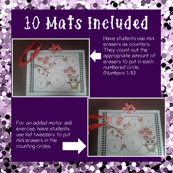 Fall Counting Mats - Numbers 1-10