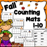 Fall Counting Mats Numbers 1-10 {Pre-School or Kindergarten}