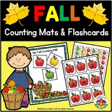 Fall Counting Mats and Number Flashcards 0-25