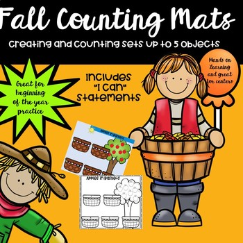 Fall Counting Mats for Math Centers