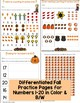 Fall Counting & Numbers Practice Pages & Mats (Differentiated,Common Core)