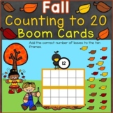Fall Counting & Numbers to 20 Digital Boom Cards (K.CC.B.4