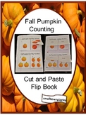 Fall Counting Pumpkins Interactive Cut and Paste Notebook