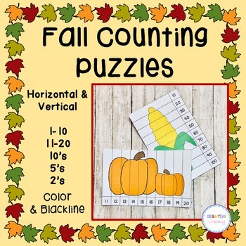 Fall Counting Puzzle Set