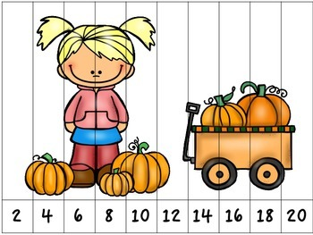 Fall Counting Puzzles