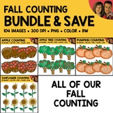 Fall Counting Scene Clipart Bundle