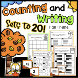Fall Counting Sets & Writing Numbers to 20 Worksheets Asse