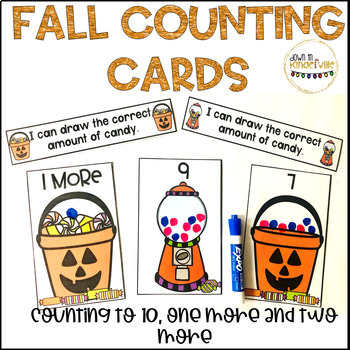 Fall Counting Task Cards (Including one more and 2 more!)