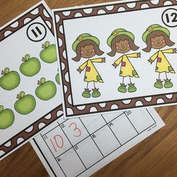 Fall Counting Task Cards for Kindergarten and 1st Grade