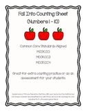 Fall Counting Worksheet (Numbers 1-10)