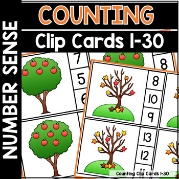 Cyber Monday |  Counting and Clip Cards 1-30 cyber19