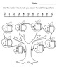 Fall Counting for Kinders - Gr. 1 (10 printable pages in PDF format)