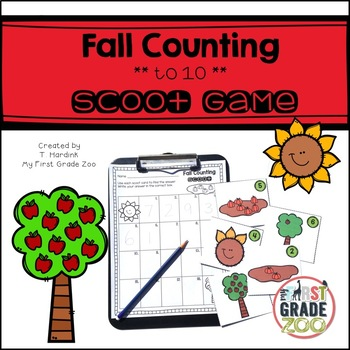 Fall Counting - to 10 - Scoot Game