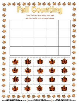 Fall Counting to 20!