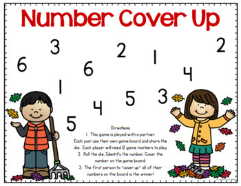 Fall Cover Up - Number Recognition Game
