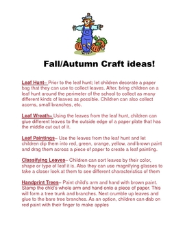 Fall Craft Ideas!