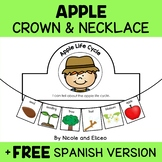 Crown and Necklace Craft - Apple Life Cycle Activities
