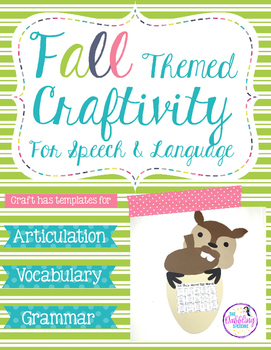Fall Craftivity For Speech & Language- I'm Nuts For Speech