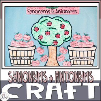 Fall Craftivity Synonym and Antonym Apples