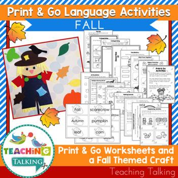Fall Craftivity & Worksheets