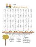 Fall Creative Activities - Word Search, Creative Writing, Spelling